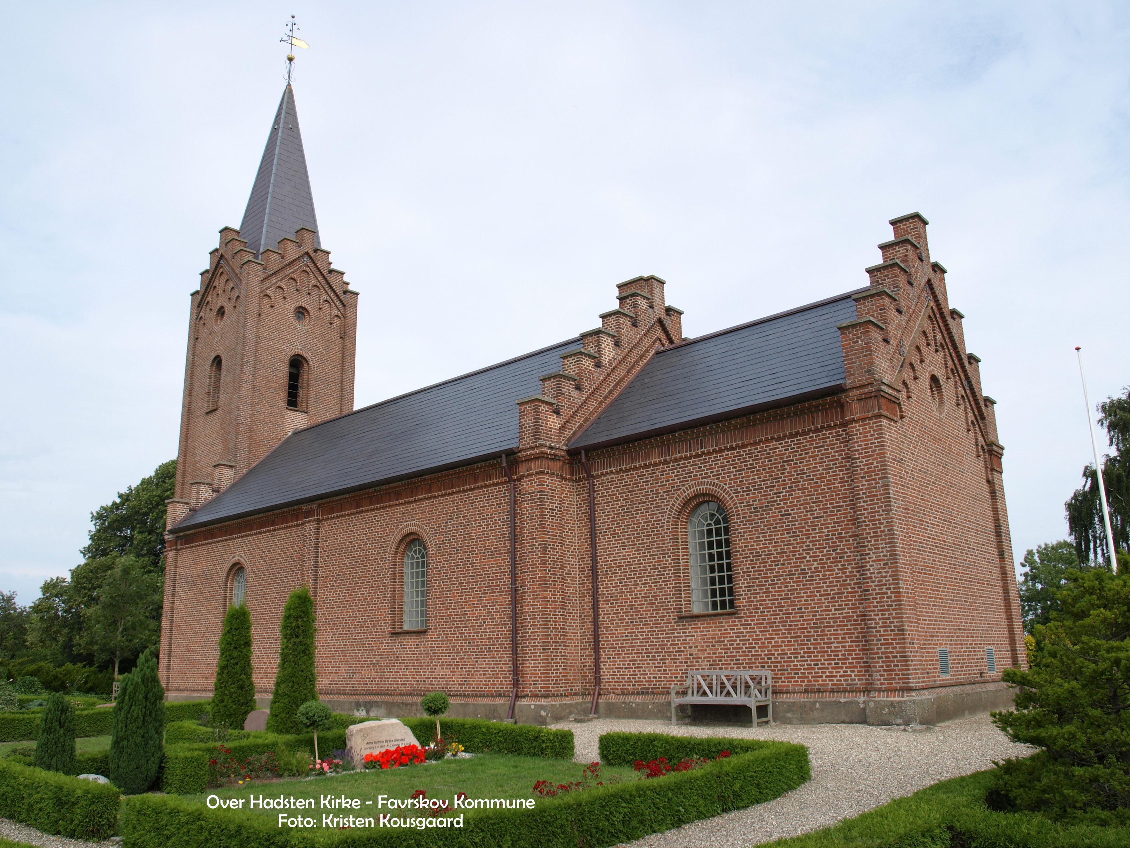 Over Hadsten Kirke Kort Til Kirken